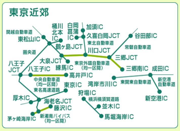 東京近郊ETCカード