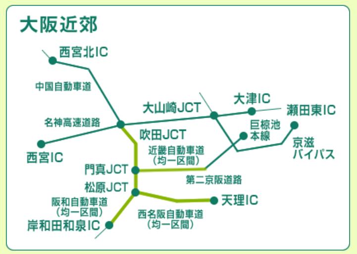 大阪近郊ETCカード